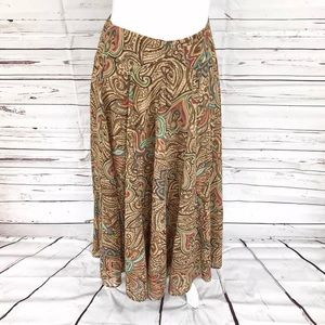 Coldwater Creek Skirt Brown Multicolored Size PS
